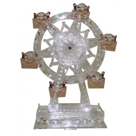 Grande roue en verre acrylique