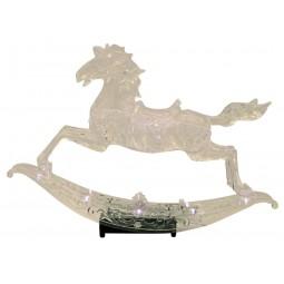 Cheval à bascule en verre acrylique