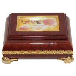 Boîte à bijoux carrée
