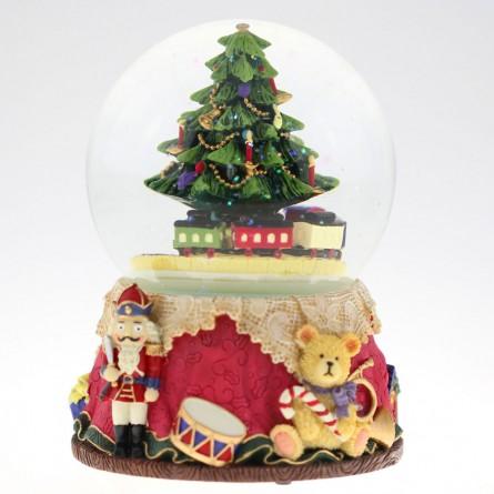 Boule de neige avec sapin de Noël