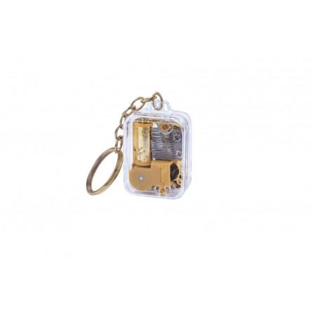 Porte-clés avec un mouvement musical miniature