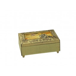 Boîte rectangulaire, blanche en bois