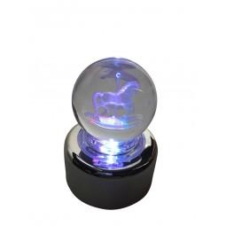 Boule de cristal cheval de manège