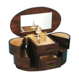 Coffret bijoux bois foncé