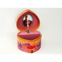Boîte à bijoux fées en forme de coeur