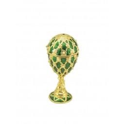 Oeuf décoratif vert dans le style Fabergé