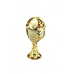 Oeuf décoratif style Fabergé doré