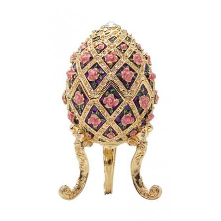 Oeuf style Fabergé fleurs