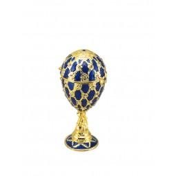 Oeuf décoratif style Fabergé bleu