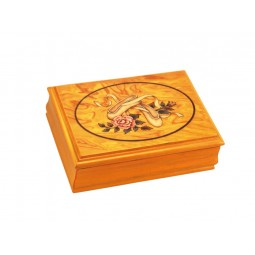 Boîte à bijoux en bois motif ballerine