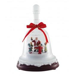 Cloche en verre acrylique avec Père Noël