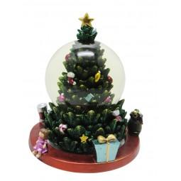 Sapin de Noël avec boule de neige 100 mm