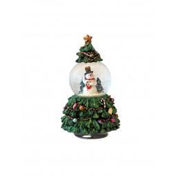 Sapin de Noël avec boule de neige 65 mm