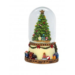 Dôme de neige sapin de Noël