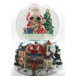 Boule de neige Père Noël avec cadeaux