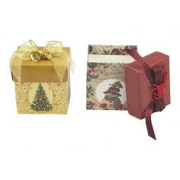 Présentoir de Noël boîtes musicales cadeaux sapin et bonhomme de neige